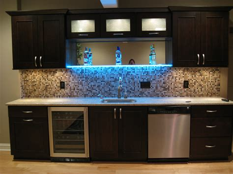 how to organize kitchen lighted shelf in home bar bars shelves 4378