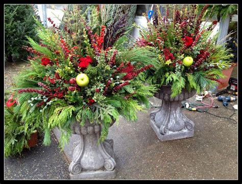 Fallwinter Outdoor Planters Flower Arrangements