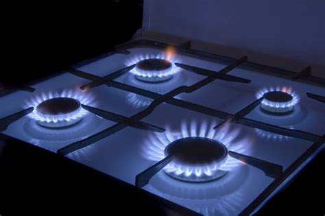 gas stove burning orange hunker