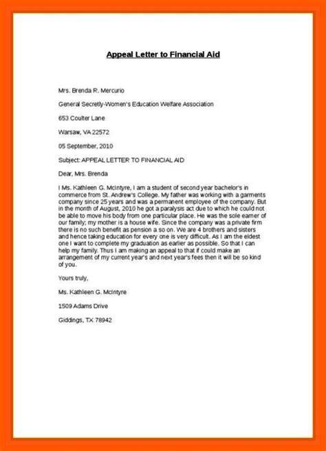 write  scholarship appeal letter