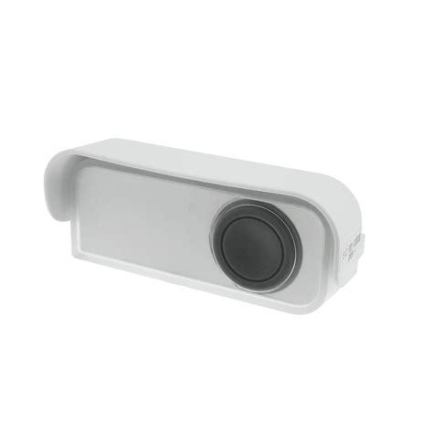 sonnette sans fil exterieur etanche bouton de sonnette sans fil 224 led evology blanc leroy merlin