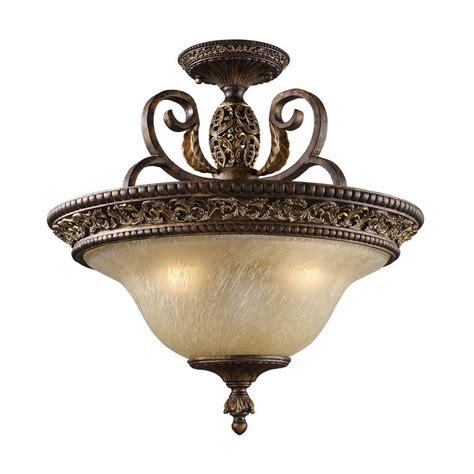 semi flush mount ceiling lights titan lighting regency 3 light burnt bronze ceiling semi
