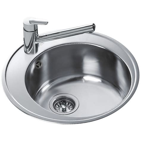 round stainless steel sink teka centroval 45 stainless steel 1 0 bowl round inset