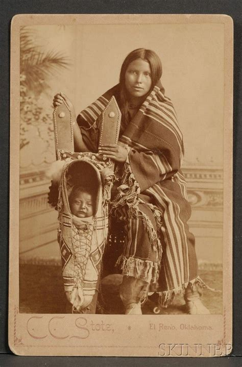 Cabinet Card of a Southern Plains Woman and Child | Native ...