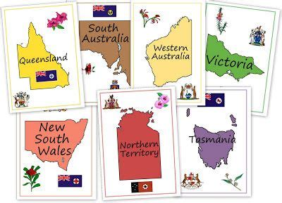 printable cover sheet divider page for notebooking about australia from our worldwide