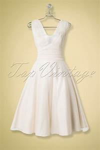 50s sophie occasion swing bridal dress in ivory With swing wedding dress