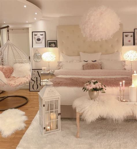 white pink and gold room