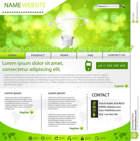 website eco layout template royalty  stock images