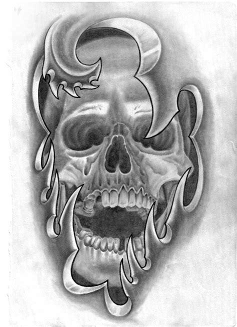 Skull Forearm Tattoo Drawing Designs