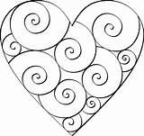 Heart Printable Templates Diy Stencils sketch template
