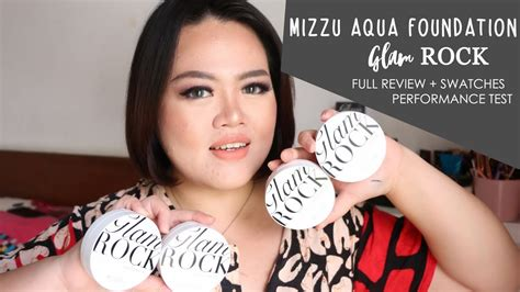Mizzu Glam Rock Aqua Foundation  Full Review + Swatches