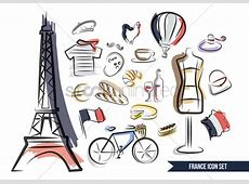 Collections of french items Vector Image 1569613