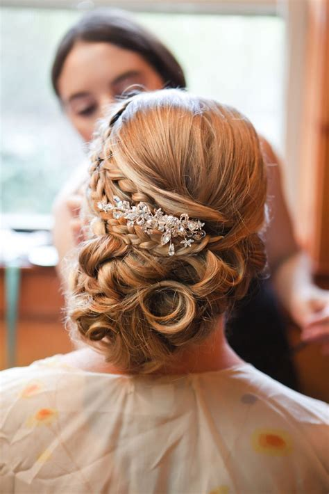 elegant bridal updo  hair piece elegant wedding hair