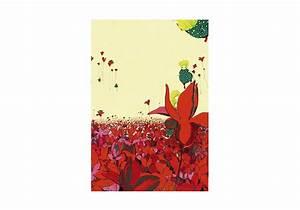 affiche champ fleuri par virginie jamin embellir With affiche chambre bébé avec champ de fleur avis