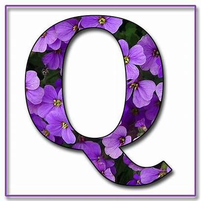 Purple Alphabet Flowers Scrapbook Letters Letter Granny