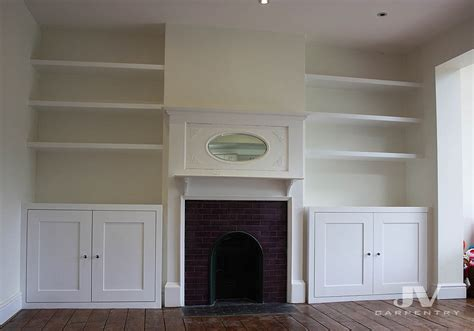 Bespoke alcove cupboards and floating shelves, Barking