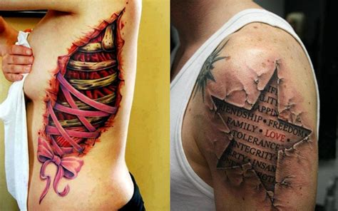crazy pop  tattoos   gut wrenching ripped skin