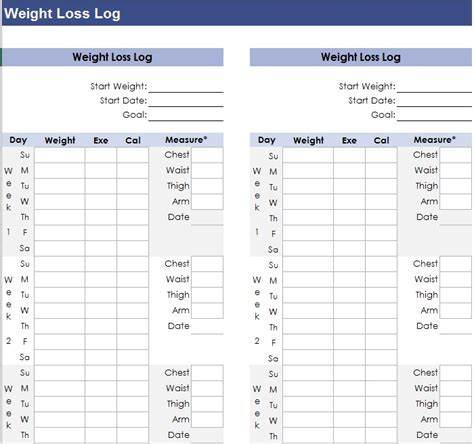 Weight Loss Record Template Weight Loss Record Template Pchscottcounty