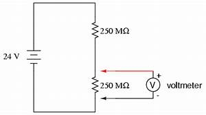 voltmeter impact on measured circuit dc metering With circuit and the lighter leads will measure the voltage across the