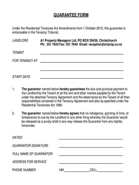 Personal Guarantee Template Uk by Template Personal Guarantee Agreement Template