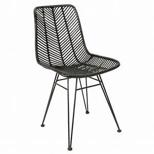 Chaise Rotin Noir : chaise salle manger chaise cosy rotin noir chaise cosy rotin noir a c c e s s o i r e s d e ~ Teatrodelosmanantiales.com Idées de Décoration