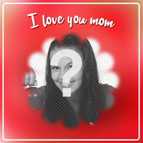 mettere cornice a foto cartolina per la festa della mamma a mettere una foto con