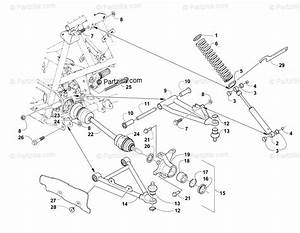Arctic Cat Atv 2004 Oem Parts Diagram For Front Suspension Assembly