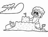 Sand Coloring Castle Pages Creative Print Cuties Getcolorings Printable Sandbox sketch template