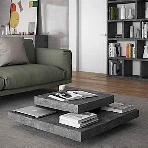 Table Basse Effet Beton : slate table basse effet b ton temahome ~ Teatrodelosmanantiales.com Idées de Décoration
