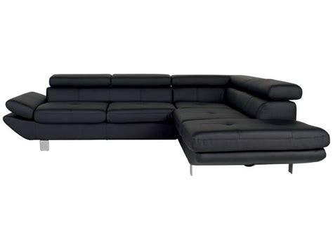 housse de canapé d angle conforama canapé d 39 angle fixe droit 5 places loft coloris noir en pu
