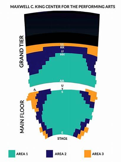 King Center Matinee Series Seating Chart Orchestra