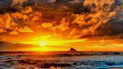 Sunset 4k Wallpapers Clouds Ultra Sea Cloud