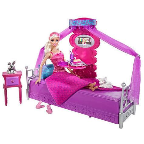 barbie bed  breakfast bedroom furniture gift set doll accessories girl  ebay