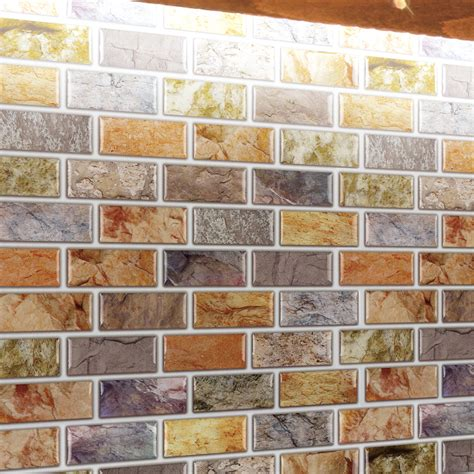 self adhesive kitchen backsplash tiles self adhesive mosaic tile backsplash color subway tile