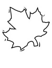 Blank Leaf Coloring Pages