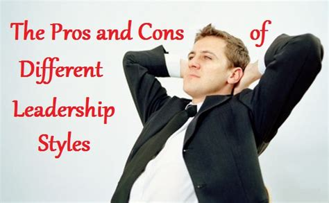 Pros & Cons Different Leadership Styles  Maria Barina Live