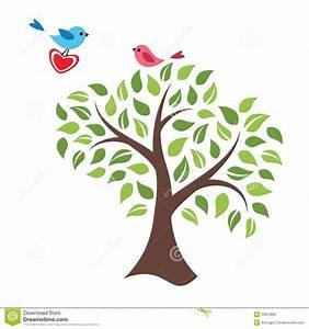 Baum Der Liebe : stilisierter baum und v gel in der liebe stockbild bild 32810681 ~ Eleganceandgraceweddings.com Haus und Dekorationen