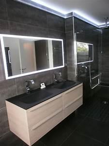 carrelage ardoise pour salle de bain collection avec With carrelage adhesif salle de bain avec ruban de leds blanche