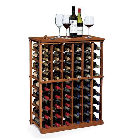 wine enthusiast nfinity  bottle walnut floor wine rack