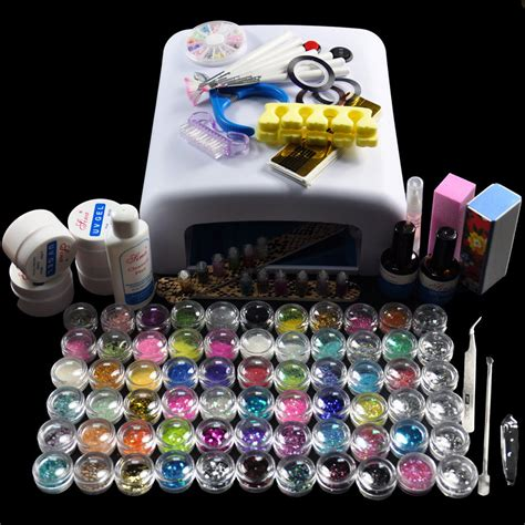 gel nail kit with uv light diy set nail style nail gel manicure kit with