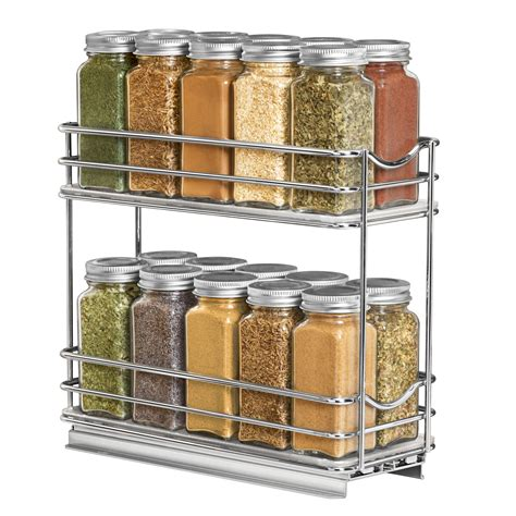 Large Spice Organizer by 430422 Professional Roll Out Spice Organizer Two Tier