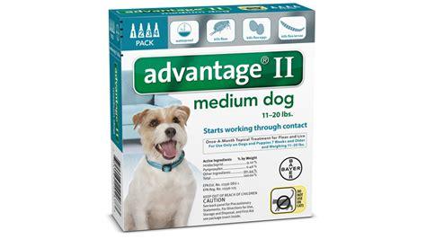 advantage ii  dogs dosage fleascience