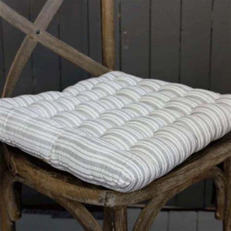 light grey stripe seat cushion pad striped dining room