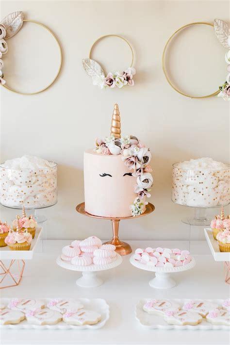 Kara's Party Ideas Rose Gold & Blush Pink Unicorn Party