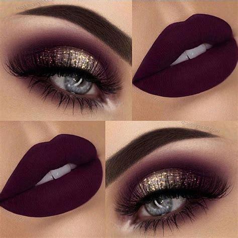burgundy smokey eye date night  glitter eye makeup