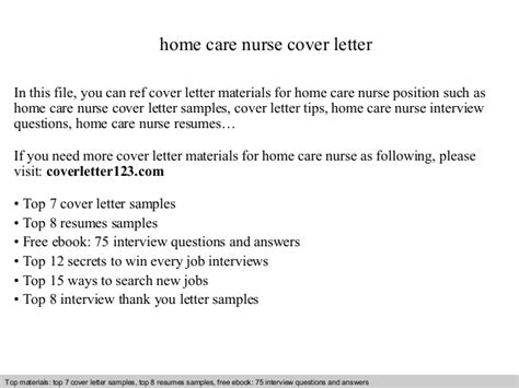 homecare cover home care nurse cover letter