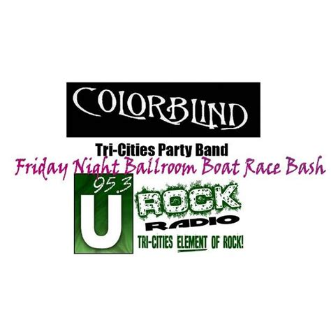 Tri Cities Boat Races Tickets by Friday Ballroom Boat Race Bash W Colorblind Tri