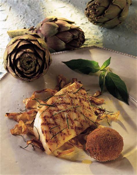 sauge ananas cuisine turbot grillé aux artichauts huilés à l 39 infusion de sauge