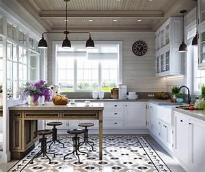 jolie maison familiale russe au design interieur neo With cuisine de charme ancienne