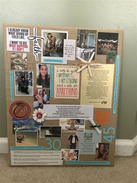 vision board based   personal mission